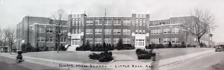 Photographic image of Dunbar High School, Little Rock, Arkansas, 1935. courtesy UA Little Rock CAHC.