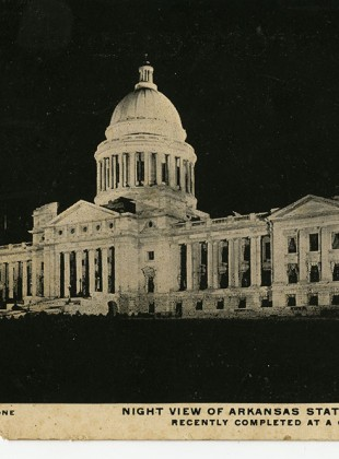 Arkansas-State-Capitol-at-Night-1916