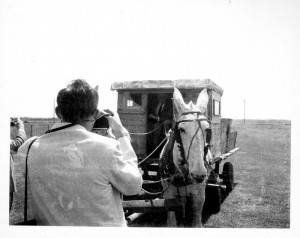 The mule cart that carried Governor Rockfeller and Johnny Cash around the grounds at Cummins.