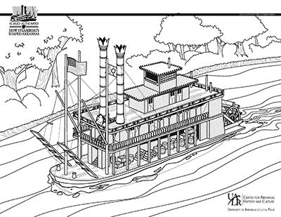 steamboat coloring pages | Education Materials | As Much as the Water: How Steamboats ...