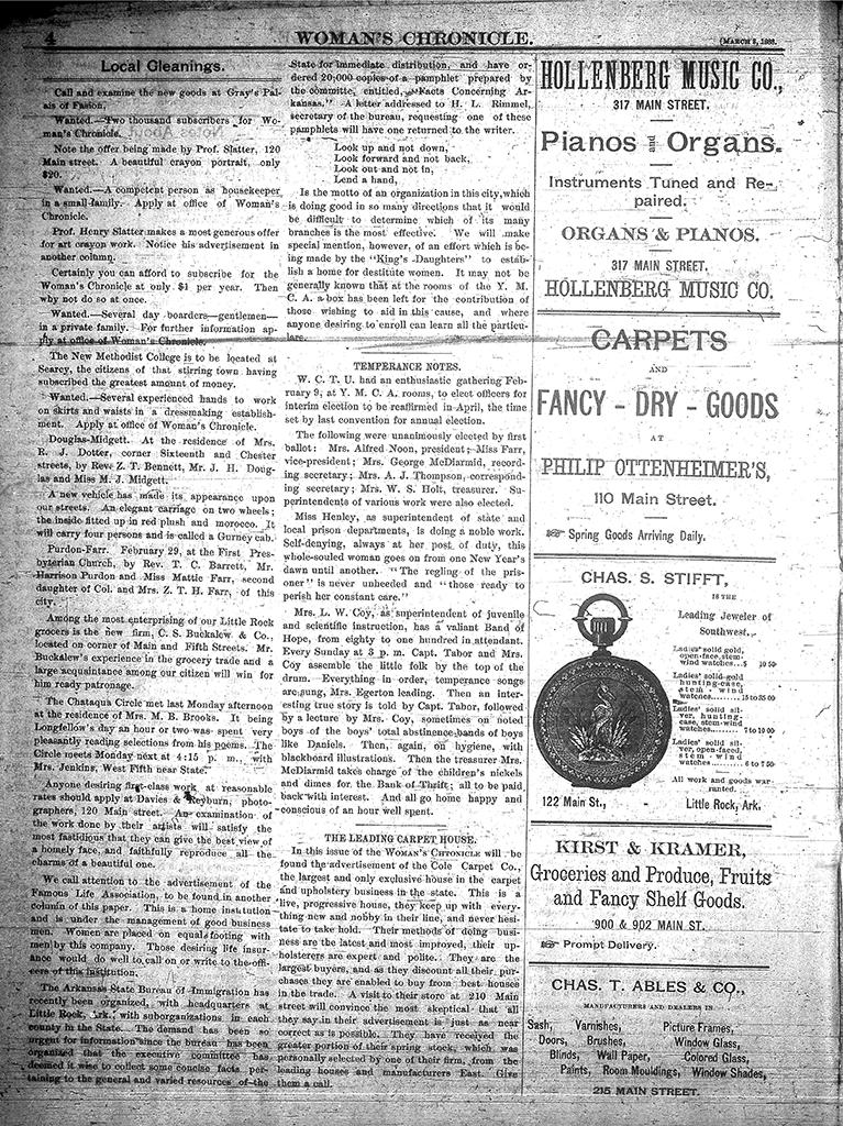 Documents | Arkansas Women's Suffrage Centennial Project