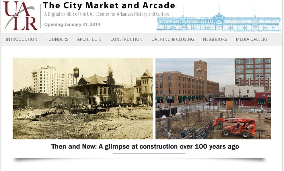 Screenshot of Arcade exhibit