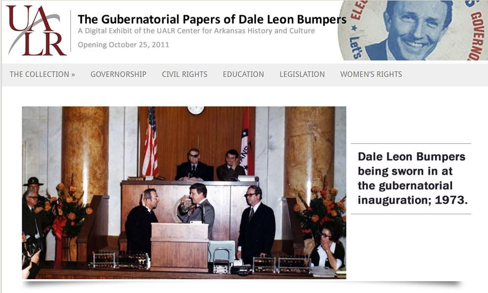 Screenshot of Dale Bumpers exhibit