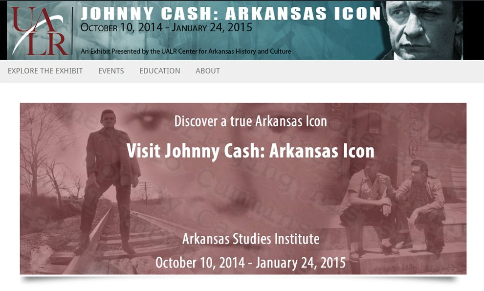 Screenshot of Johnny Cash exhibit