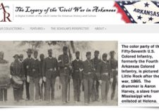 Screenshot of Civil War exhibit