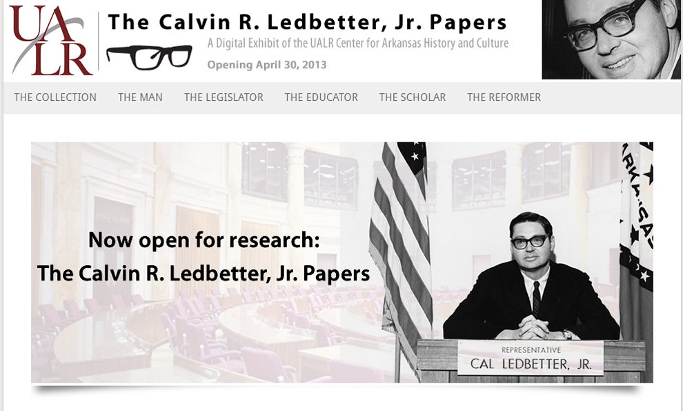 Screenshot of Ledbetter exhibit