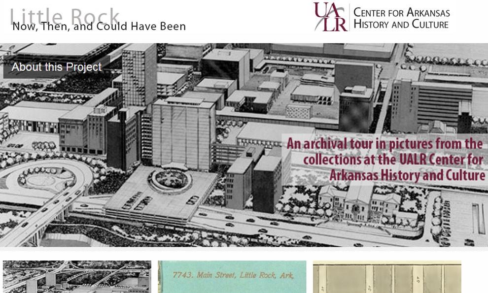 Screenshot of Little Rock exhibit
