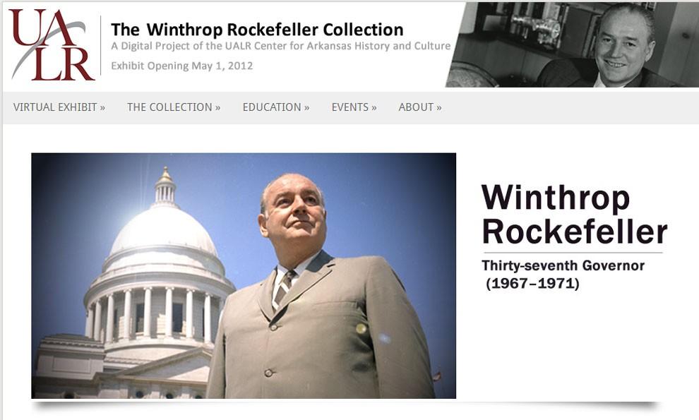 Screenshot of Wintrhop Rockfeller exhibit