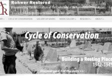 Screenshot of Rohwer Restored exhibit