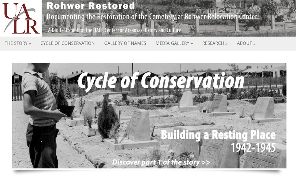 Screenshot of Rohwer Restored exhibit
