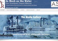 Screenshot of steamboats exhibit