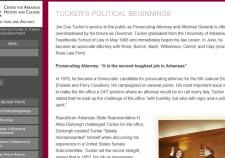Screenshot of Jim Guy Tucker Processing Blog