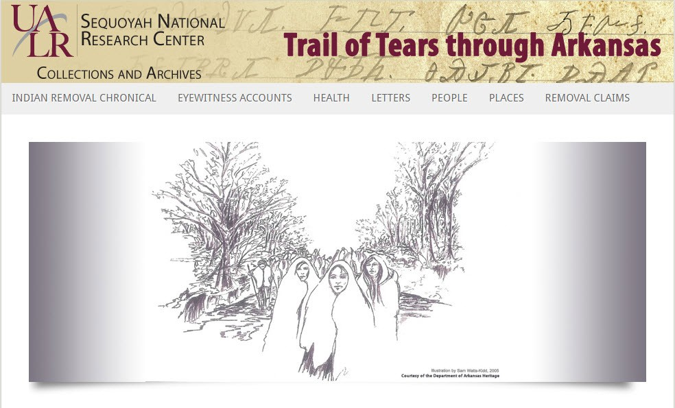 Trail of Tears through Arkansas screenshot