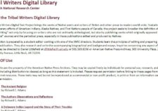 Tribal Writers Digital Library screenshot