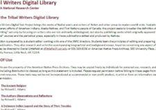 Tribal Writers Digital Library screenshot