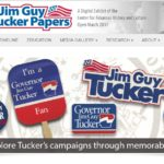 Screenshot of Jim Guy Tucker Papers exhibit home page